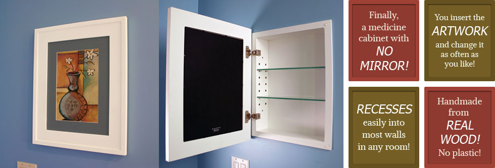 Recessed Medicine Cabinets with Picture Frame Doors | Mirrorless ...