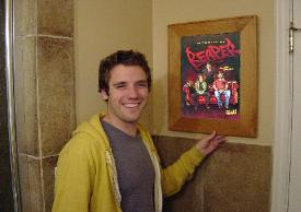 actor bret harrison of the ranch shows off his picture frame medicine  cabinet. deerfield medicine cabinet with mirror