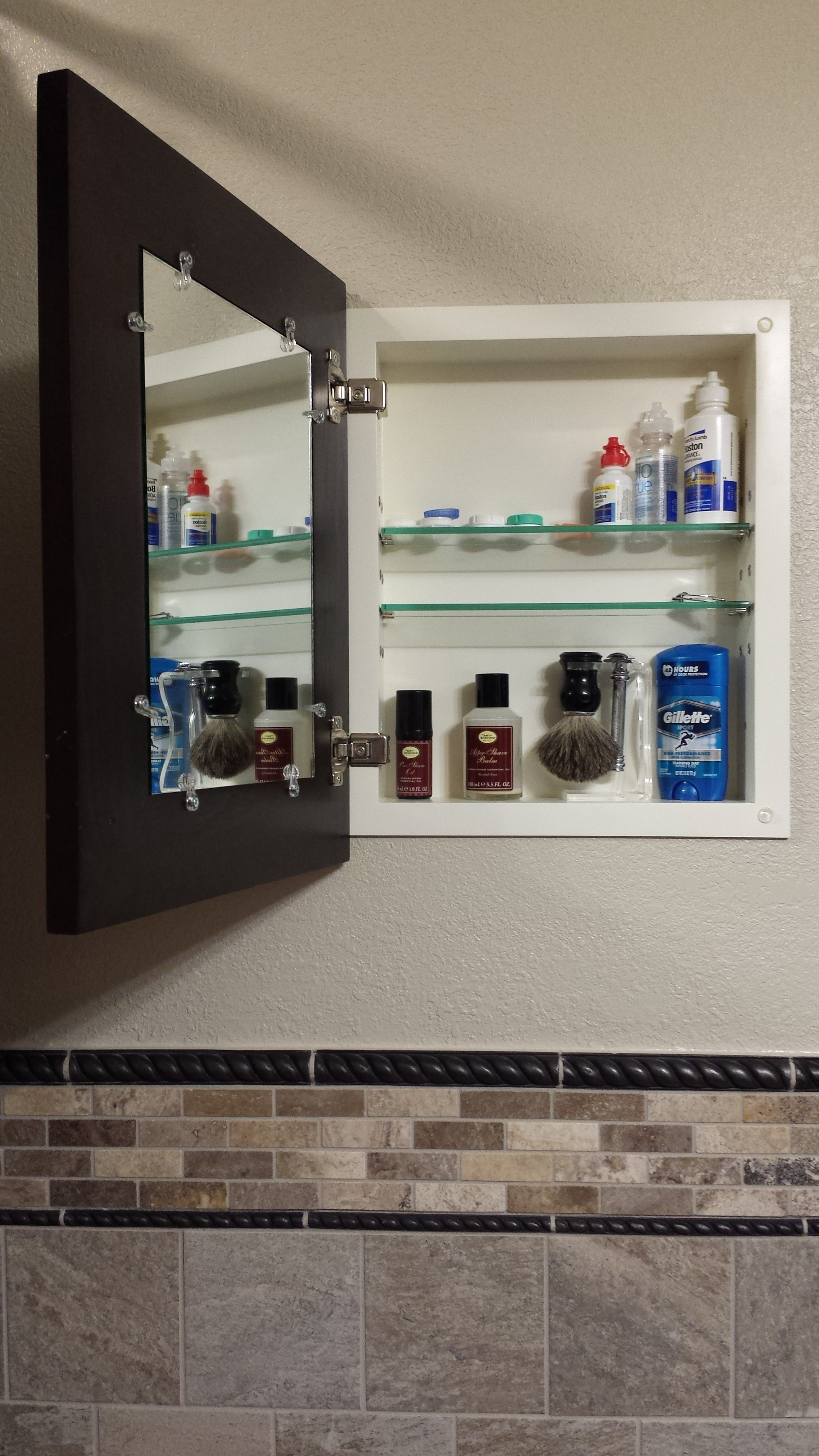 interesting customer photos testimonial reviews for the worldus only recessed medicine cabinet with a picture frame door and no mirror with round medicine ... & Round Medicine Cabinet. Round Medicine Cabinet Impressive Design ...