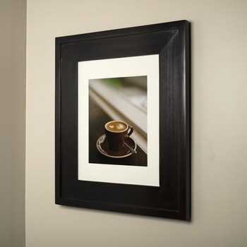 14x18 Coffee Bean Concealed Cabinet - recessed medicine cabinet with a picture frame door