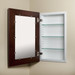 Espresso (14x24) concealed medicine cabinet with picture frame door - with optional mirror facing inside