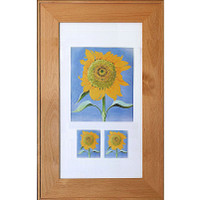 Maple (14x24) concealed medicine cabinet with picture frame door, display your own art instead of a mirror