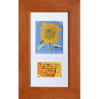 Cinnamon (14x24) concealed medicine cabinet with picture frame door, display your own art instead of a mirror