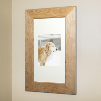 Unfinished Rustic (14 x 24) concealed medicine cabinet with picture frame door, display your own art instead of a mirror