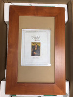 Imperfect Extra Large Cinnamon Concealed Picture Frame Medicine Cabinet w/ white interior (#IMP0250)