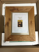 Imperfect Regular Rustic Caramel Concealed Picture Frame Medicine Cabinet with White Interior (#IMP0251)