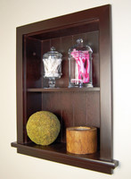 Dark Brown Recessed Wall Niche by Fox Hollow Furnishings (14x18)