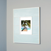 "Regular Seabreeze Blue Recessed Picture Frame Medicine Cabinet (13 1/8"" x 16"")"