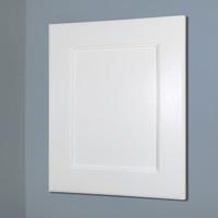 13x16 white wood shaker recessed medicine cabinet