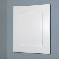 14x18 White Shaker Recessed Frame Door Medicine Cabinet