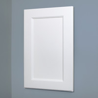 XL 14x24 white wood recessed shaker medicine cabinet