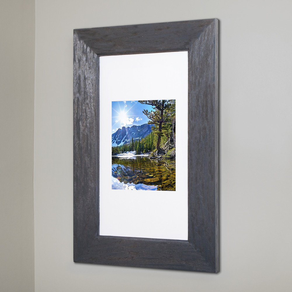 Extra Large Rustic Gray Concealed Cabinet | Recessed In-Wall ...