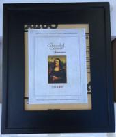 Imperfect Regular Black Concealed Picture Frame Medicine Cabinet with White Interior (#IMP0233)