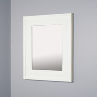 13x16 Contemporary White Mirrored Medicine Cabinet by Fox Hollow Furnishings