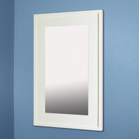 14x24 Contemporary White Mirrored Medicine Cabinet by Fox Hollow Furnishings