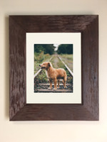 "Large Rustic Coffee Bean Recessed Picture Frame Medicine Cabinet (14"" x 18"")"