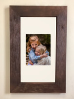 "Extra Large Rustic Coffee Bean Recessed Picture Frame Medicine Cabinet (14"" x 24"")"