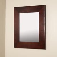 13x16 Regular Espresso Mirrored Medicine Cabinet by Fox Hollow Furnishings