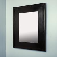 13x16 Regular Black Mirrored Medicine Cabinet by Fox Hollow Furnishings