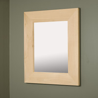 13x16 Regular Unfinished Flat Mirrored Medicine Cabinet by Fox Hollow Furnishings