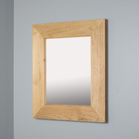 13x16 Regular Unfinished Rustic Mirrored Medicine Cabinet by Fox Hollow Furnishings