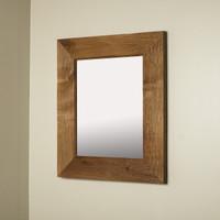 13x16 Regular Rustic Caramel Mirrored Medicine Cabinet by Fox Hollow Furnishings