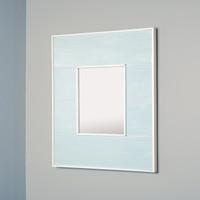 13x16 Regular Seabreeze Blue Mirrored Medicine Cabinet by Fox Hollow Furnishings