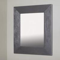 13x16 Regular Rustic Gray Mirrored Medicine Cabinet by Fox Hollow Furnishings