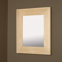 14x18 Unfinished Raised Edge Mirrored Medicine Cabinet by Fox Hollow Furnishings