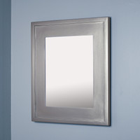 14x18 Silver Mirrored Medicine Cabinet by Fox Hollow Furnishings