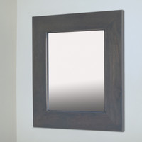 14x18 Gray Mirrored Medicine Cabinet by Fox Hollow Furnishings