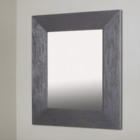 14x18 Rustic Gray Mirrored Medicine Cabinet by Fox Hollow Furnishings