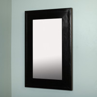 14x24 Black Mirrored Medicine Cabinet by Fox Hollow Furnishings