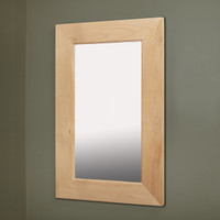 14x24 Unfinished Flat Mirrored Medicine Cabinet by Fox Hollow Furnishings
