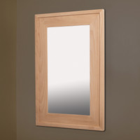 14x24 Unfinished Raised Edge Mirrored Medicine Cabinet by Fox Hollow Furnishings