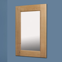 14x24 Unfinished Shaker Mirrored Medicine Cabinet by Fox Hollow Furnishings