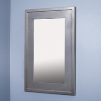 14x24 Silver Mirrored Medicine Cabinet by Fox Hollow Furnishings