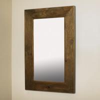 14x24 Rustic Caramel Mirrored Medicine Cabinet by Fox Hollow Furnishings