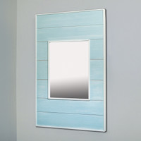 14x24 Seabreeze Blue Mirrored Medicine Cabinet by Fox Hollow Furnishings