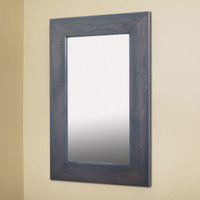 14x24 Gray Mirrored Medicine Cabinet by Fox Hollow Furnishings