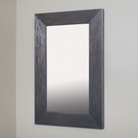 14x24 Rustic Gray Mirrored Medicine Cabinet by Fox Hollow Furnishings