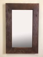 14x24 Rustic Coffee Bean Mirrored Medicine Cabinet by Fox Hollow Furnishings