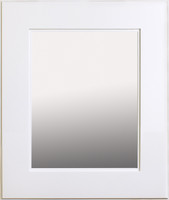 "Regular White Shaker Style Mirrored Medicine Cabinet (13 1/8"" x 16"")"