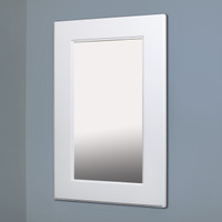 """Extra Large White Shaker Style Mirrored Medicine Cabinet (14"""" x 24"""")"""