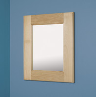 """Large Unfinished Shaker Style Recessed Mirrored Medicine Cabinet (14"""" x 18"""")"""