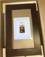 Imperfect Extra Large Espresso Concealed Picture Frame Medicine Cabinet w/ natural interior (#IMP0256)