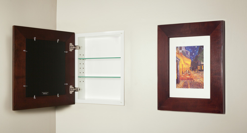 Regular Espresso Concealed Cabinet Recessed In Wall