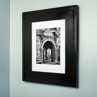(13 1/8 x 16) concealed medicine cabinet with black picture frame door, display your own art instead of a mirror