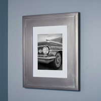 "Regular Silver Recessed Picture Frame Medicine Cabinet (13 1/8"" x 16"")"