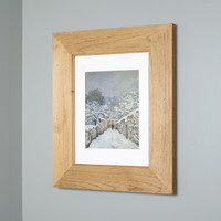 Unfinished Rustic (13 1/8 x 16) concealed medicine cabinet with picture frame door, display your own art instead of a mirror